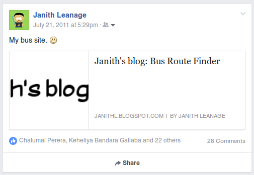 Bus Route Anniversary