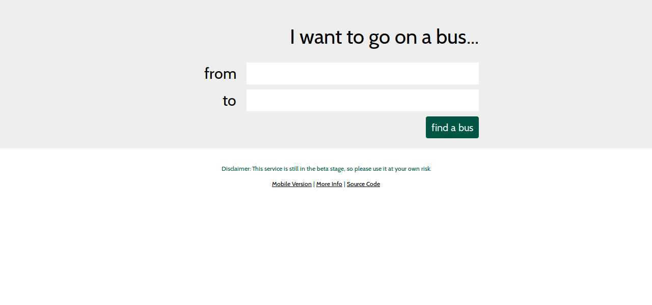 Bus Route Site Screenshot