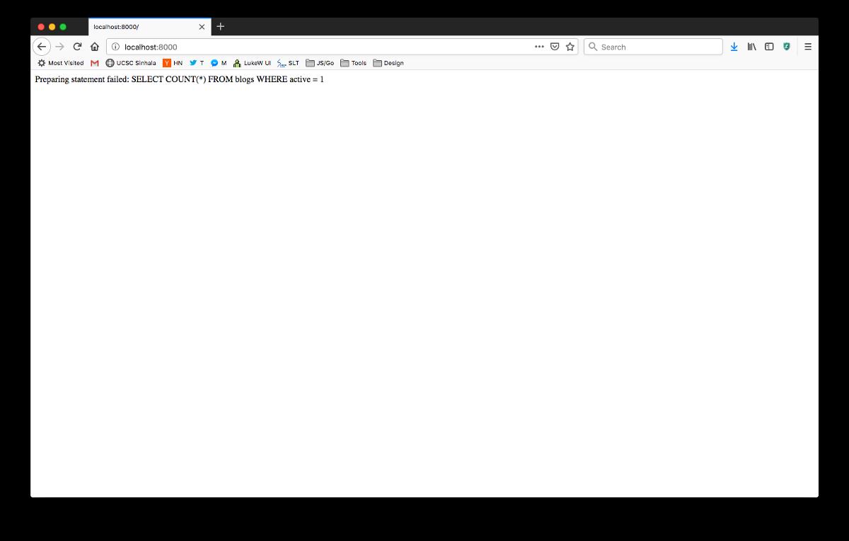 Database Issue