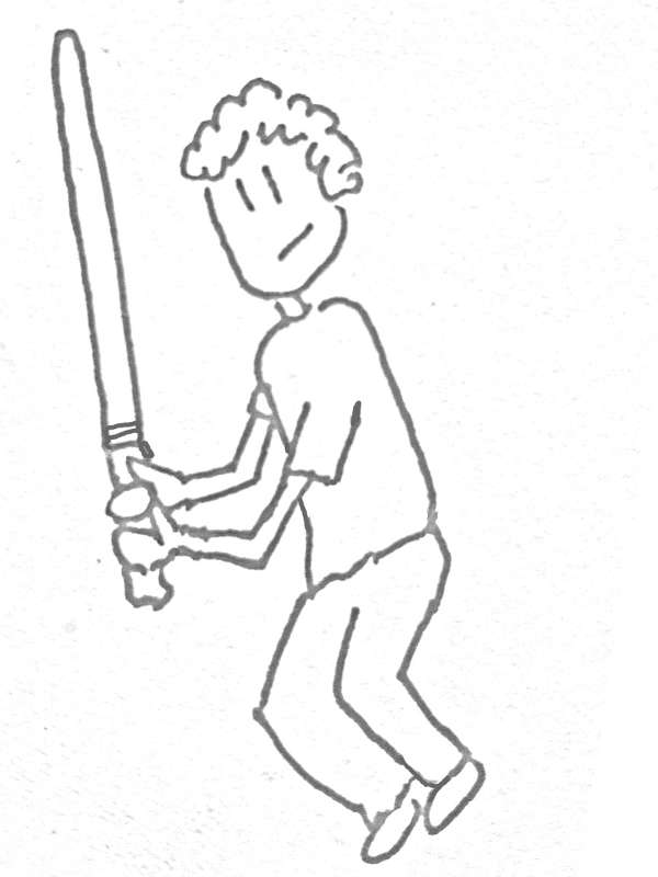 Lightsaber Jan Drawing